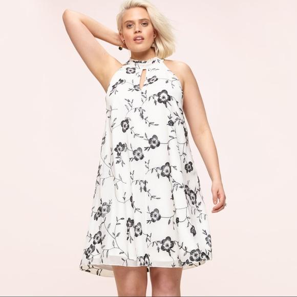 25ae9dedb9f8 Loralette Dresses | Plus Size Dress White W Black Floral 2x | Poshmark